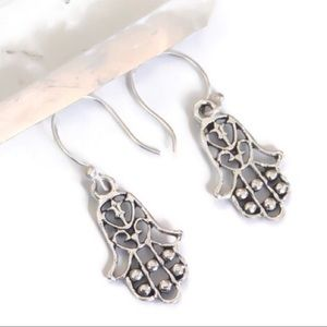♥️ Sterling Silver Hasma Hand Earrings 925 ♥️
